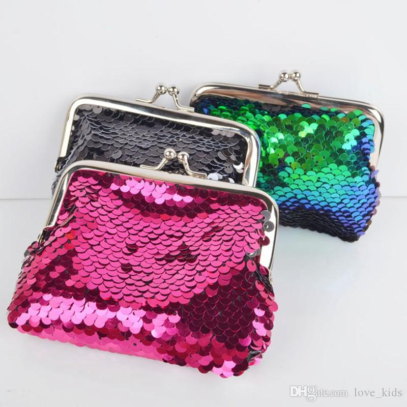 c8cfc4fee2 New design purse women fashion sequin wallet ladies gleam green cosmetic  bags girl coin bags free shipping