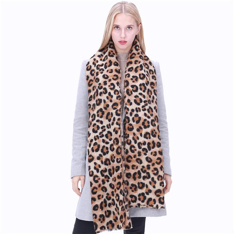 36c838eaf59bb New Hot Selling Winter Scarf Women Leopard Printing Cashmere Shawl ...