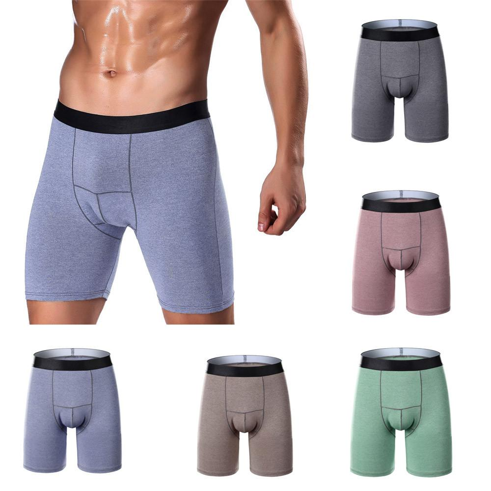 Underwear Men Sexy Hombre Boxer Long Underwear Mens Underpants Sports Long  Gentleman Running Wear Leg Boxer Briefs UK 2019 From Instachic 64ddf36c9788