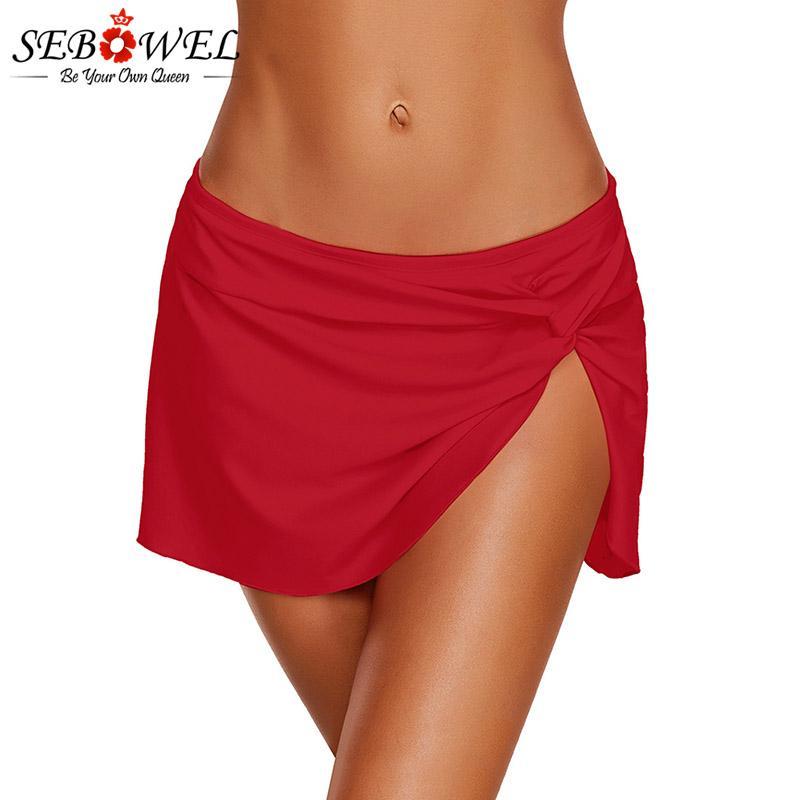 e00c9ac16a57c 2019 SEBOWEL Sexy Twist Knot Detail Skirted Women Bikini Bottom Separate Swim  Skirt Swimwear High Elasticity Bathing Suit Beachwear From Xx2015, ...