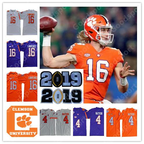 reputable site cb0a6 5bb77 YOUTH KID 2019 NCAA Clemson Tigers College DeShaun Watson Mike Etienne JR 9  JERSEY FOOTBALL RENFROW 13 sports LAWRENCE 16 shirts child