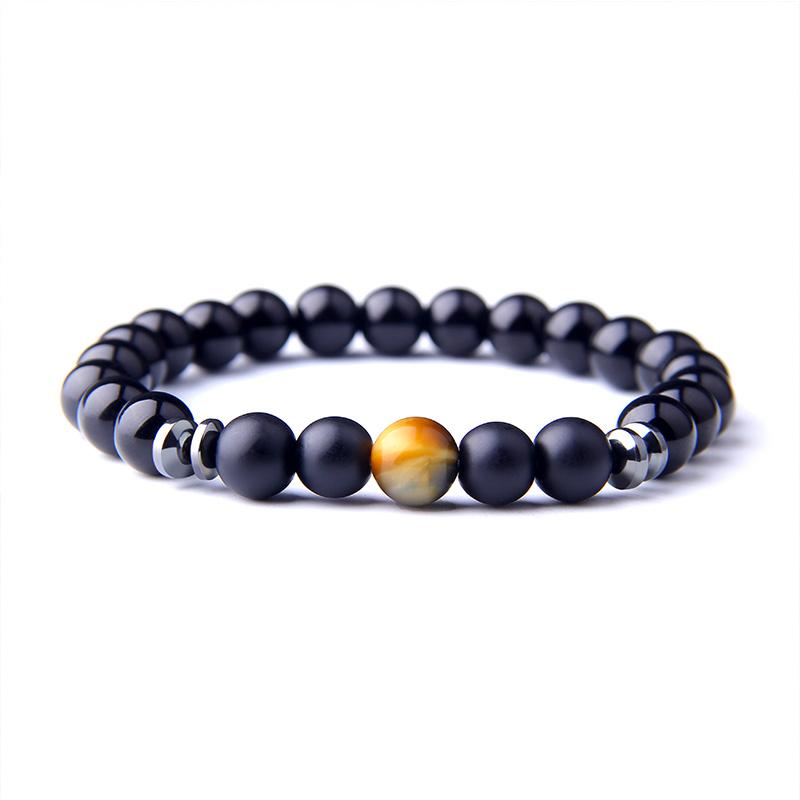 Natural dream Tiger Eyes Stone Bracelet for Men couple Black Onyx Beads Bracelet for Women and Men friendship Jewelry wholesale