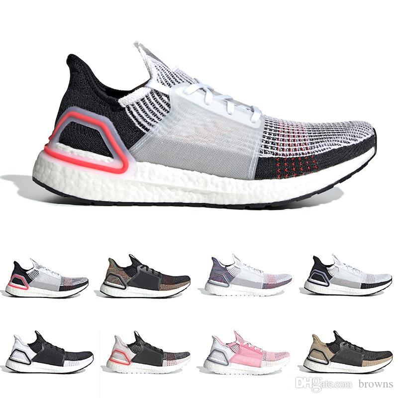 a58f6d7c2 2019 Cloud White Black Ultra Boost 2019 Ultraboost Mens Running Shoes Dark  Pixel Refract Clear Brown Primeknit Sports Trainers Men Women Sneakers From  ...