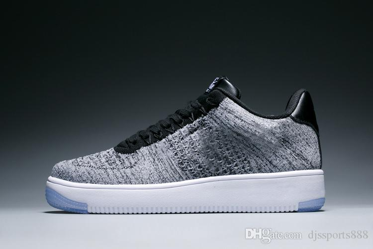 hot sale online e046e 5f8ef Compre Nike Air Force 1 Ultra Flyknit Boost 3.0 4.0 Triple Black And White  Primeknit Oreo CNY Azul Gris Hombres Zapatos De Mujer A $59.94 Del  Djssports888 ...