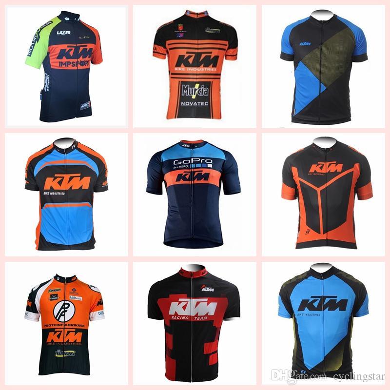 Acquista 2019 KTM Maglie Ciclismo RACING Abbigliamento Sport Bike Jersey  Ciclismo Abbigliamento Maniche Corte Tops Biciciela Maillot Ciclismo  Abbigliamento ... b286851ec