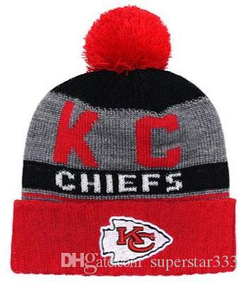 cd4f2e08e15b6 2019 Winter Kansas City Beanie KC Hats Men Women Knitted Beanie Wool Hat  Man Sport Knit Hat Bonnet Beanies Warm Baseball Cap 02 Burgundy Tie Silk  Tie From ...