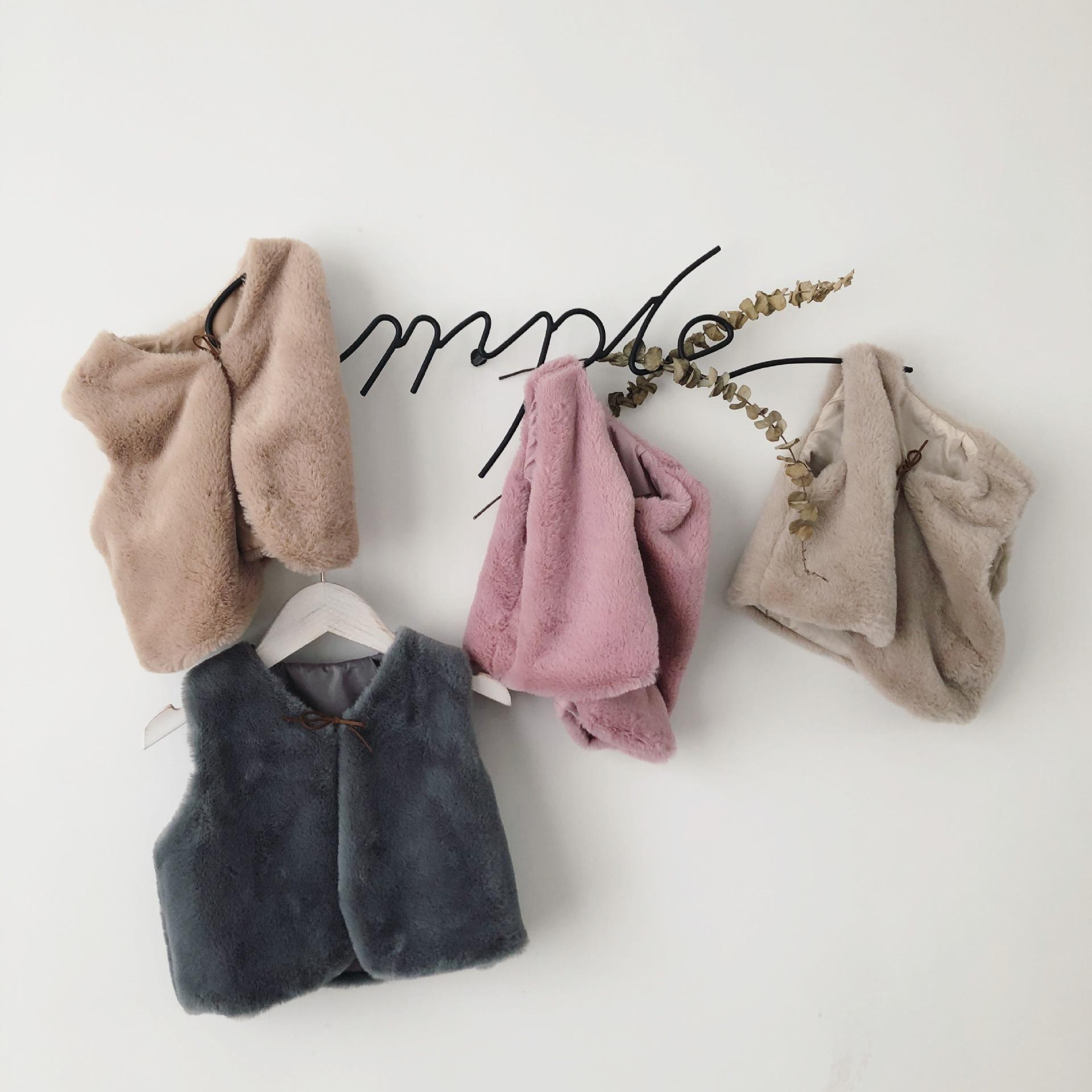 ce39d6c0d 2018 New Baby Girl Autumn Winter Clothes Faux Fur Vest Coats Warm ...
