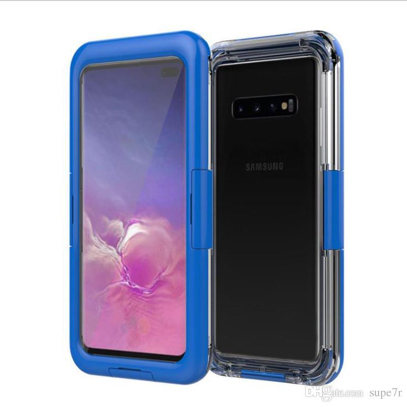 Samsung S10e S10 Artı Su Geçirmez Kılıf Surf Dalış Yüzmek için PC Silikon Shocproof Durumda Iphone Xr Xs Max 8 Artı Su Geçirmez Kapak