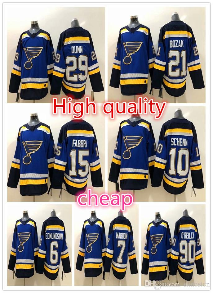 outlet store sale 9029c af245 St. Louis Blues Ice Hockey 15 Robby Fabbri Jersey 6 Joel Edmundson 7  Patrick Maroon 21 Tyler Bozak 29 Vince Dunn Ryan OReilly