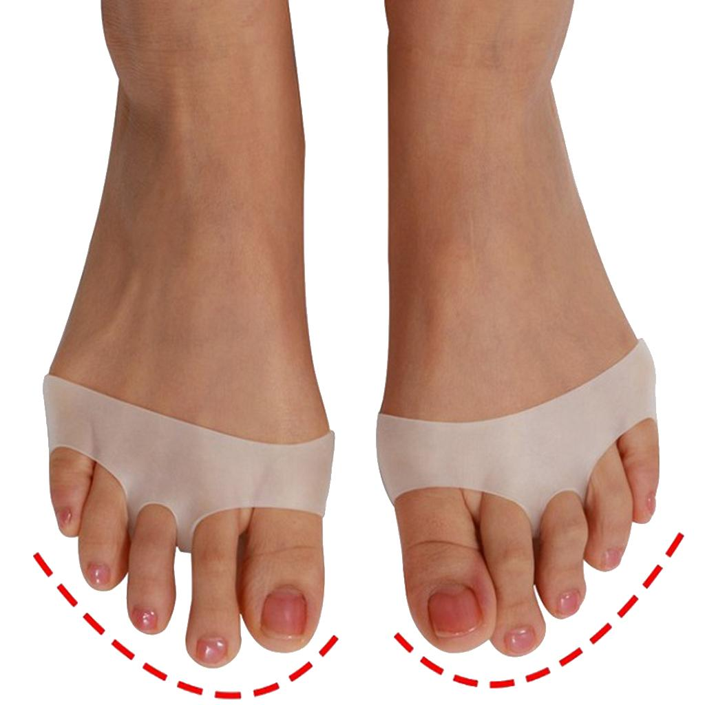1 Pair Silicone Gel Forefoot Pads for Women Metatarsal Pads Corns Blister Breathable White High Heels Half Yard Insole