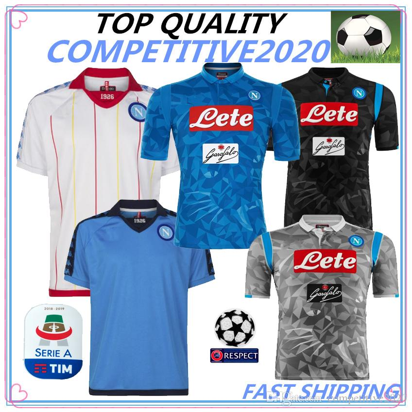 best service 089b9 25989 18 19 Serie A Naples New Napoli retro home soccer jerseys Napoli blue 2019  football Jerseys Shirt for men 2018 HAMSIK L.INSIGNE PLAYER Shirt