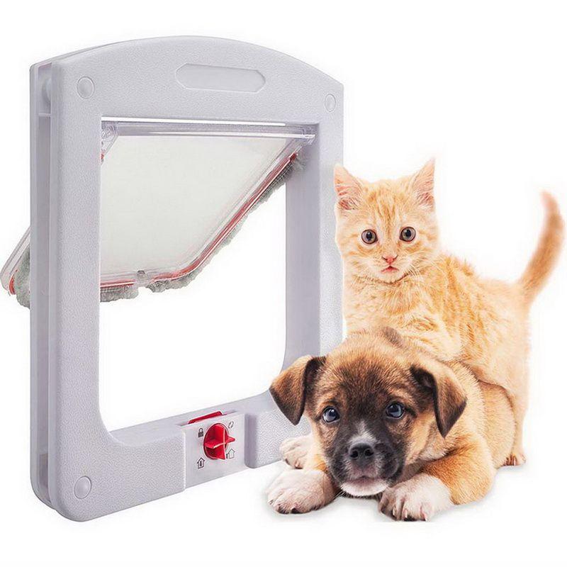 2019 Cat Door Animal Small Pet Cat Dog Gate Doors Pet Supplies