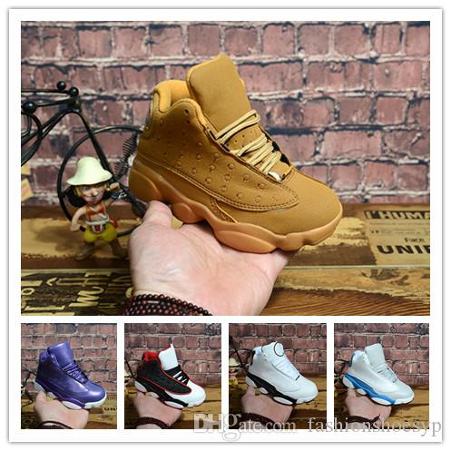 2019 Designers Baby 13 Kids Basketball Shoes Youth Children's Athletic 13s Sports Shoes for Boy Girls Shoes Free Shipping size:28-35