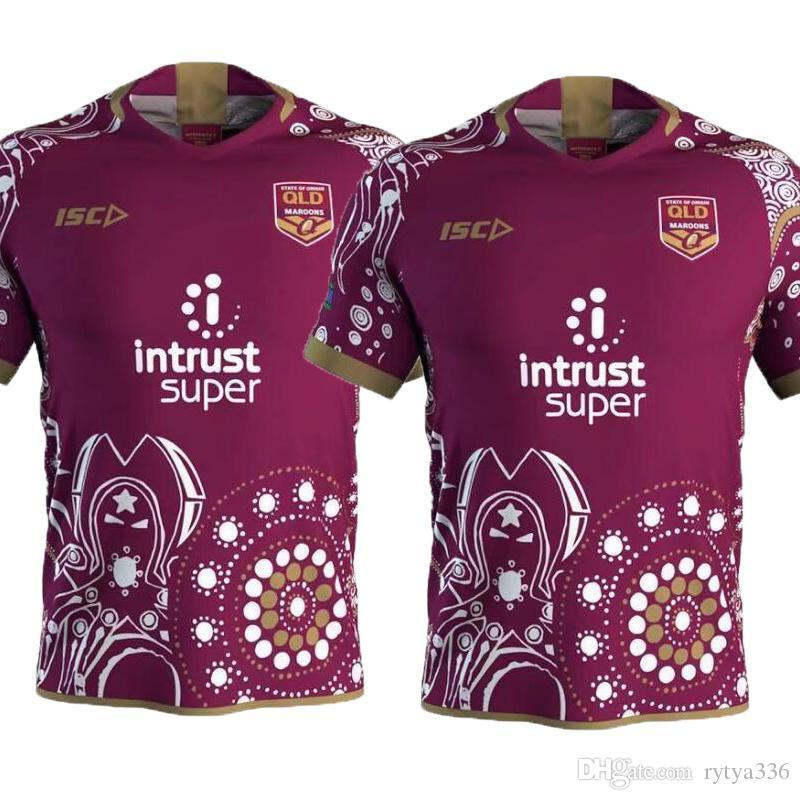 f574726f4 2019 NEW 2018 19 MENS MAROONS INDIGENOUS JERSEY Queensland Maroons Men  State Of Origin Jersey QLD Rugby Jerseys League Shirt From Rytya336, $14.22  | DHgate.
