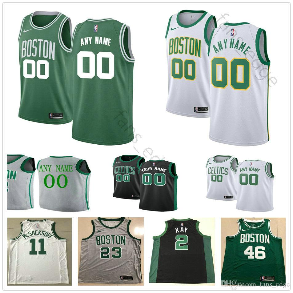 3527648a5 2018 Custom Printed Boston 12 Terry Rozier III 13 Marcus Morris 46 Aron  Baynes 30 Guerschon Yabusele 44 Robert Williams Celtics Basketball Jersey  From ...