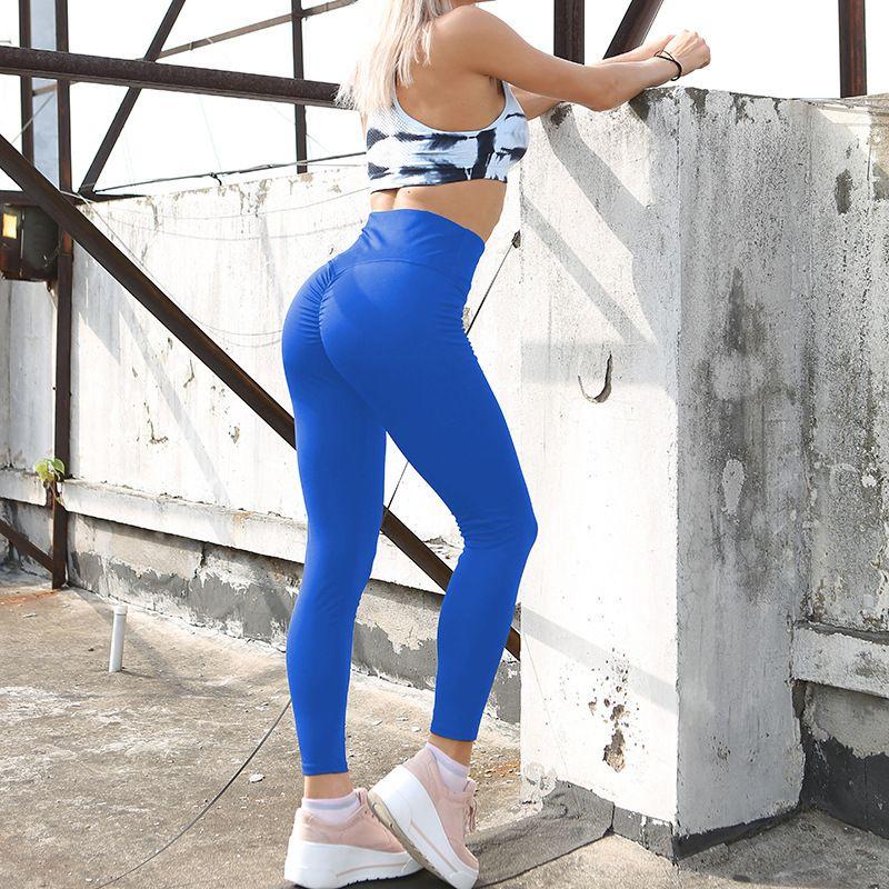 fe499fad0 2019 2018 New Fashion Hot Sale Solid Color Yoga Pants Hip Wrinkles ...