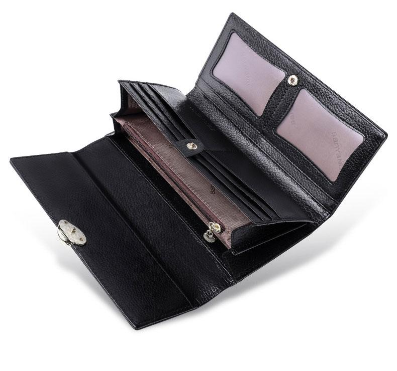 Metal Leaf Women Genuine Leather Wallets Lady Long Coin Purse Wallet Hasp Trifold Women's Clutch Bag Purse Phone Bag Card Holder