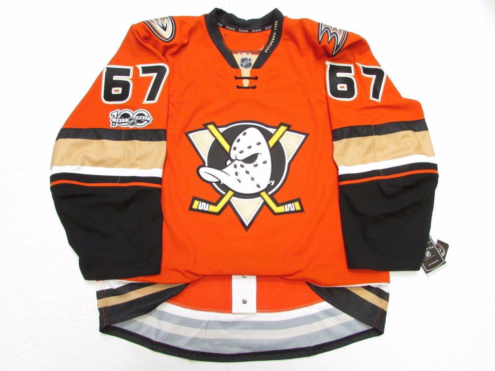 Cheap custom RAKELL ANAHEIM DUCKS THIRD 100th ANNIVERSARY JERSEY stitch add any number any name Mens Hockey Jersey XS-6XL