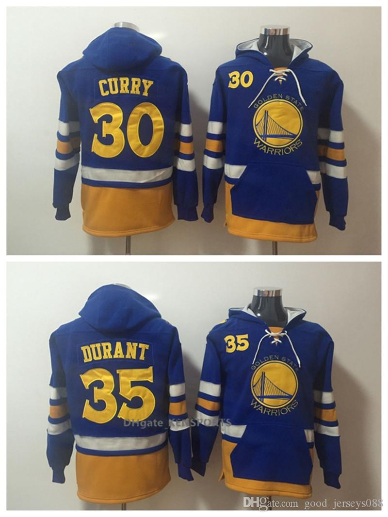 9808e3a9f 2019 Men Golden State Basketball Warriors Hoodie 35 Kevin Durant 30 Stephen  Curry ALL Stitched Sweatshirt S XXXL From Home jerseys