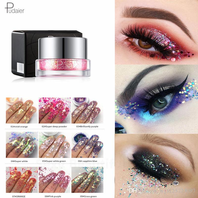 Beauty Essentials Brand 12 Color Liquid Quality Sequins Eye Shadow Palette Matte Shimmer Flash Smoky Makeup Powder Cosmetics Set Shadow Palette Vivid And Great In Style