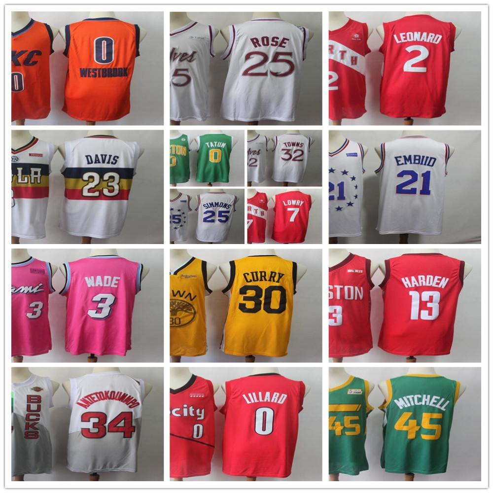 Stitched Earned Edition 0 Russell Westbrook Jersey 23 Anthony Davis 25  Derrick Rose 35 Kevin Durant Stephen Curry Kyrie Irving Kawhi Leonard Earned  Edition ... dc29a45ef