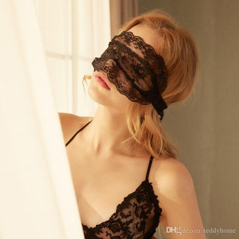 Sexy Bandage Lace Masks Women Black Transparent Masks Women Sexy Headwear Underwear Accessories For Couple Life