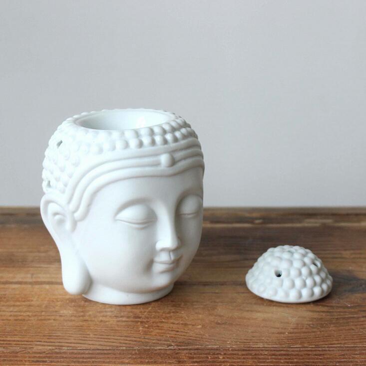 السيراميك الروائح النفط الموقد رأس بوذا رائحة الزيت العطري البخور بوذا التبت مبخرة الناشر الهندي