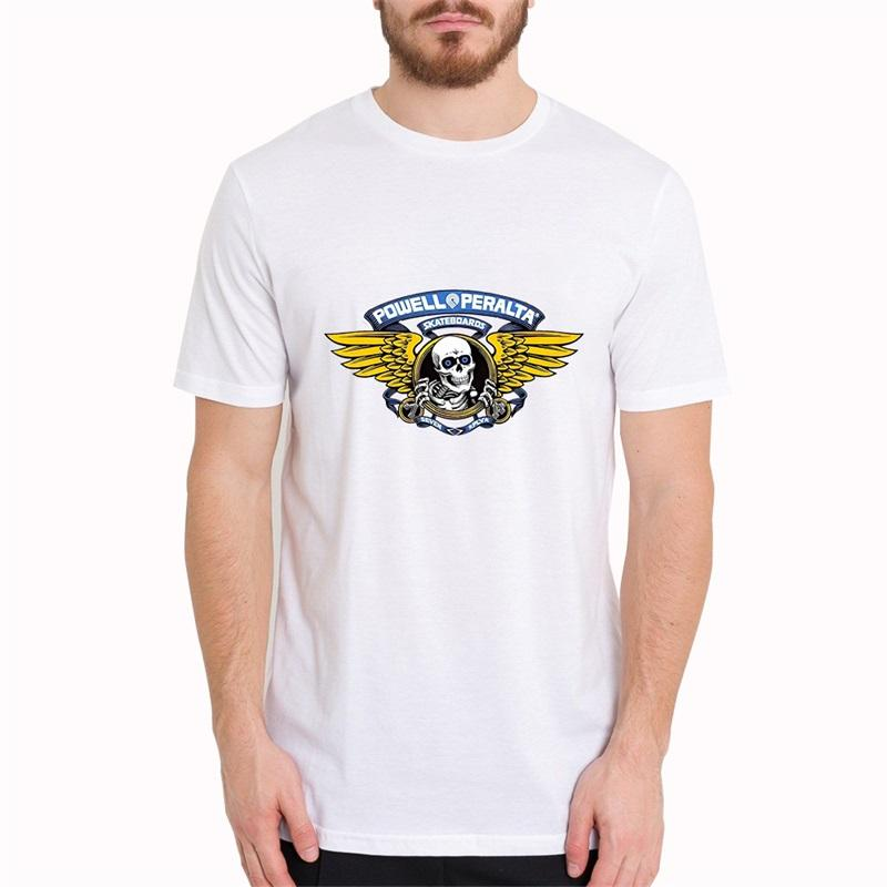 Powell Peralta Winged Ripper Blue Men T Shirts Casual O-Neck Male Clothes Print Cool Summer TShirt Harajuku Tops Short Sleeve