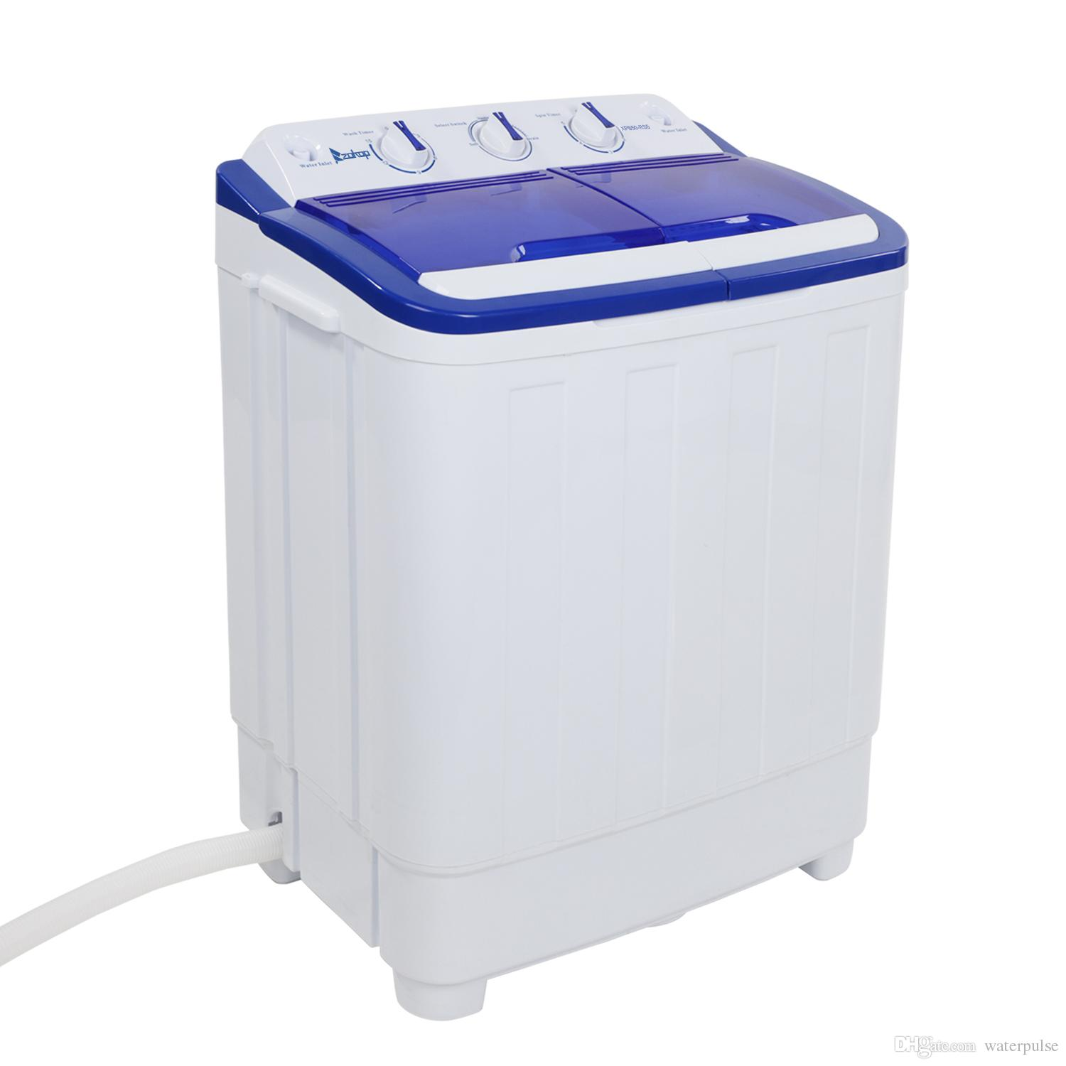 2019 Portable Washing Machine 16lbs Semi Automatic Compact