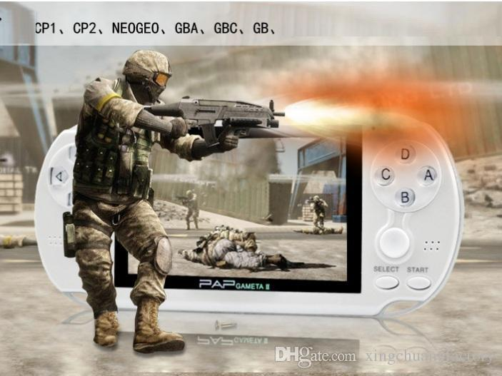 PAP Gameta II Handheld Game Consoles Portable 64 Bit Retro Video Games Players Built in 16GB Support TV Out MP3 MP4 MP5 Camera