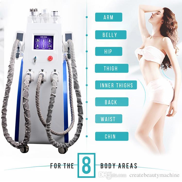 7 Em 1 gordura congelar corpo emagrecimento máquina de endurecimento da pele cavitação lipolaser emagrecimento equipamentos de beleza remover o queixo duplo