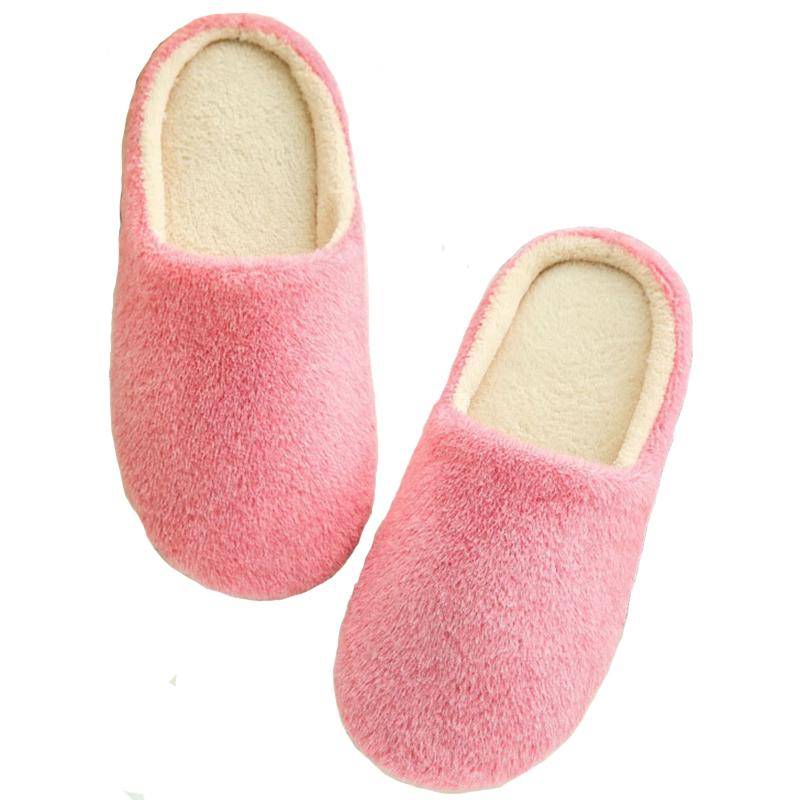 a1df9d0ec085 Winter Home Slippers Women Flock Flip Flops Warm Shoes Woman Anti Slip  Slides Soft Indoor Slippers Flat Home Shoes Pantufa Girls Shoes Bearpaw  Boots From ...