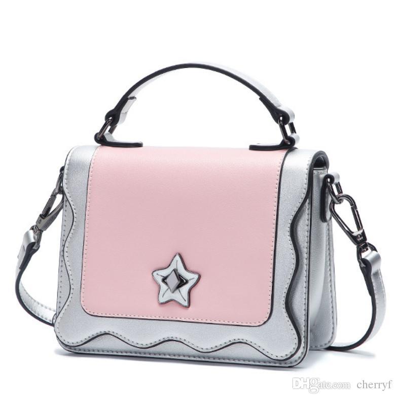data di rilascio: 29c9f 00ad7 Fashion Flap Bags Borsa in PU per Lady con tracolla lunga Vendita calda  Borse bicolore cross-body