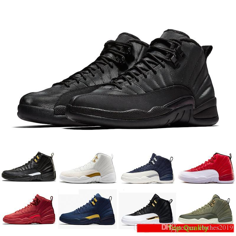 e0c1328ac2a1 2019 Winterized 12 Gym Red 12s Men Basketball Shoes Michigan WINGS ...