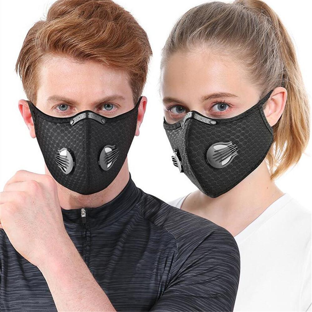 DHL In Stock Cycling Protective Mask With Filter Activated Carbon PM2.5 Anti-Pollution Sport Running Training MTB Road Bike Cycling Mask