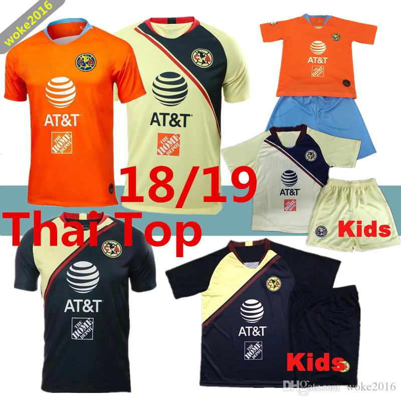 Thai Quality 2018 2019 MX Club America Soccer Jerseys Home Away Kids ... 6269b06fd