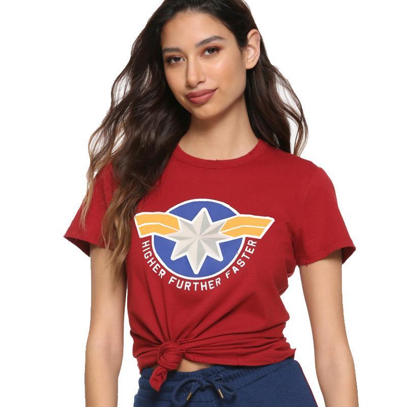 88b2f4722126 2019 Carol Danvers Captain Marvel America 2019 Mma Women Shirts T Shirt  Harajuku Tops Oversize Tee T Shirt Short Sleeve Funny C19041001 From  Lizhang03, ...