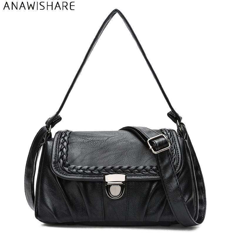 a01611c820a ANAWISHARE Women Shoulder Bags Leather Crossbody Bags For Women Messenger  Handbags Ladies Tote Bolsa Feminina Bolsos Mujer Canada 2018 From Teaberry,  ...