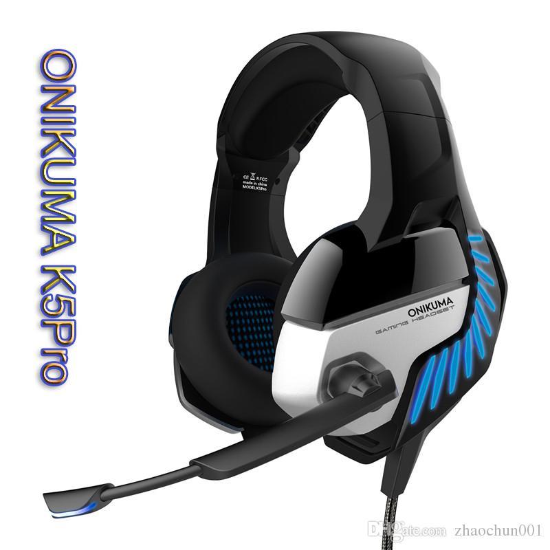 2019 Onikuma K5pro Casque Ps4 Gaming Headset Pc Gamer Bass