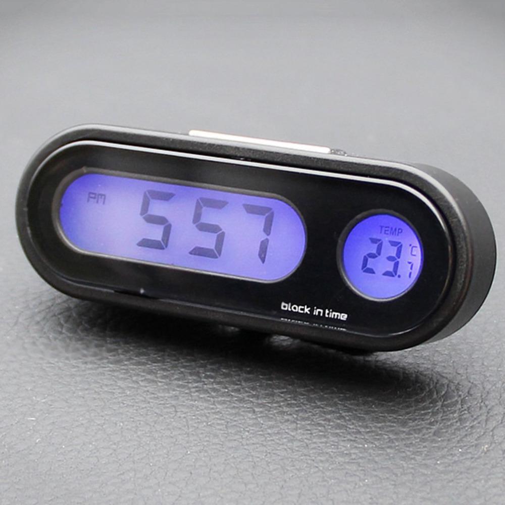 ce5f7dfa7362 Compre 2 En 1 Auto Car Reloj Electrónico Termómetro Luminoso Pantalla  Digital LED Mini Tablero De Instrumentos Portátil Reloj Reloj Accesorios A   35.96 Del ...