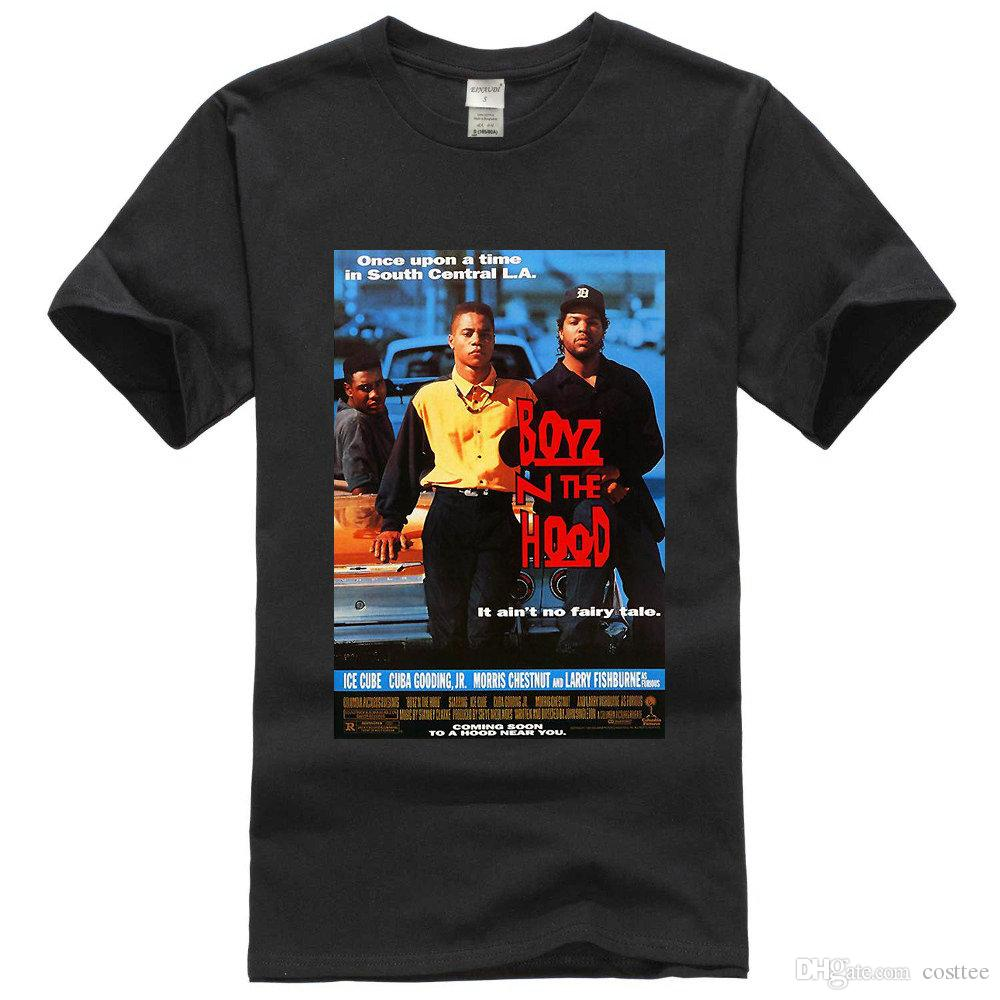 a8ecde87b15e Find Similar BOYZ N THE HOOD MOVIE POSTER T SHIRT Menace To Society Compton  NWA Dre Ice Cube T Shirt Slogans Dirty T Shirts From Costtee