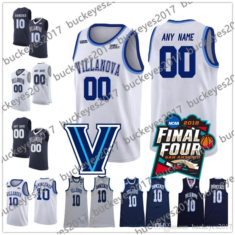 5fbc731a6 Custom Villanova Wildcats NCAA White Navy Personalized Stitched Any ...