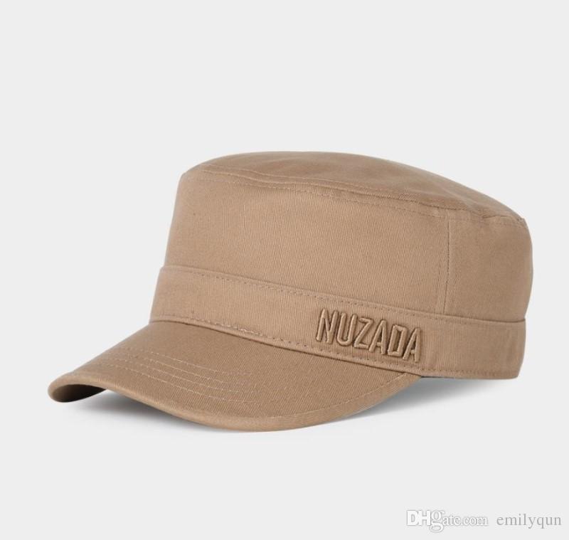 7e66964d2a513 Compre Moda Algodón Gorra Militar Para Adultos Para Hombre Para Mujer  Ejército Sombreros Verano Sunhats Hombre Deportes Al Aire Libre Visor Caps  Casual ...