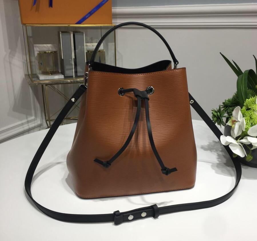 8b0a7a3a6f9 2019 Famous Brands Fashion Bags Designer Luxury Handbags Purses NEONOE  Shoulder LVLVLV Noé Leather Bucket Bag Purse TWIST Handbag Drawstring Gift  From ...