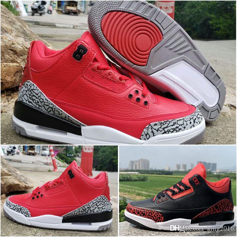 wholesale dealer aae7a 5ffda 2019 Mens 3 X DJ Khaled Grateful PE FIBA 3s Basketball Shoes JTH 3 NRG  Tinker Hatfield Black Red Cement Sports Baskets Sneakers