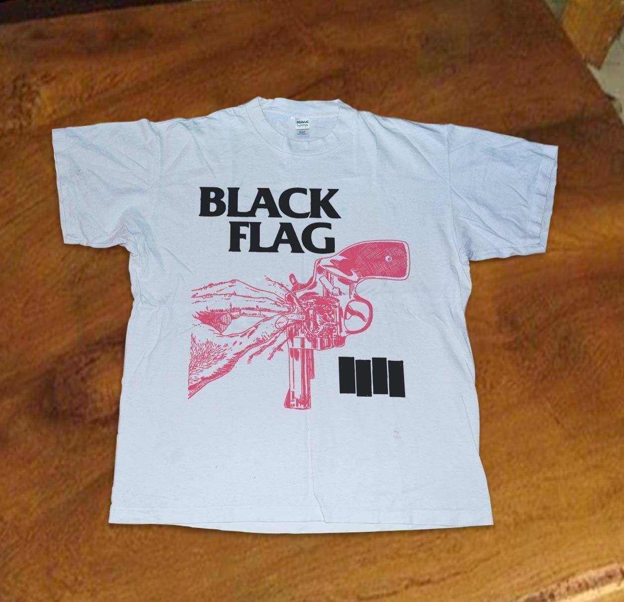 2f27b07ead952 BLACK FLAG Raymond Pettibone T-Shirt 90s Punk Misfits Reprint New Funny  free shipping Unisex Casual Tshirt