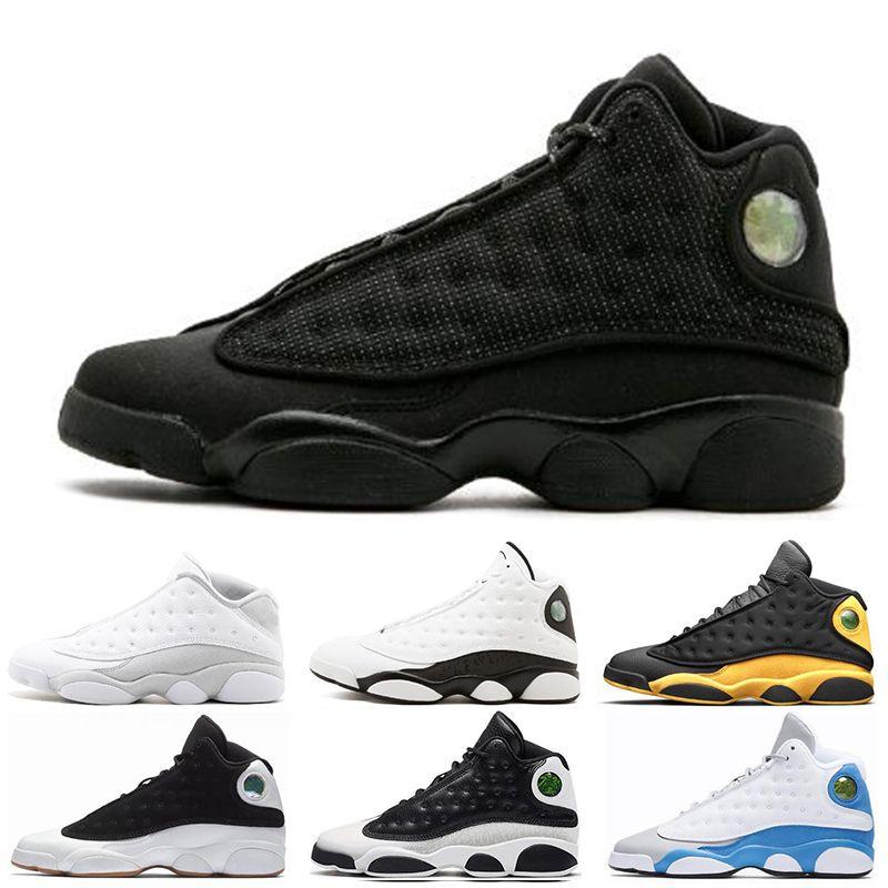 half off b23d5 ac58b Großhandel Nike Air Jordan 13 13s 2019 13 13s Herren Basketballschuhe Italy  Blue Melo Klasse Von 2003 Pure Money Black Cat Gezüchtet Flint Sportschuhe  Größe ...