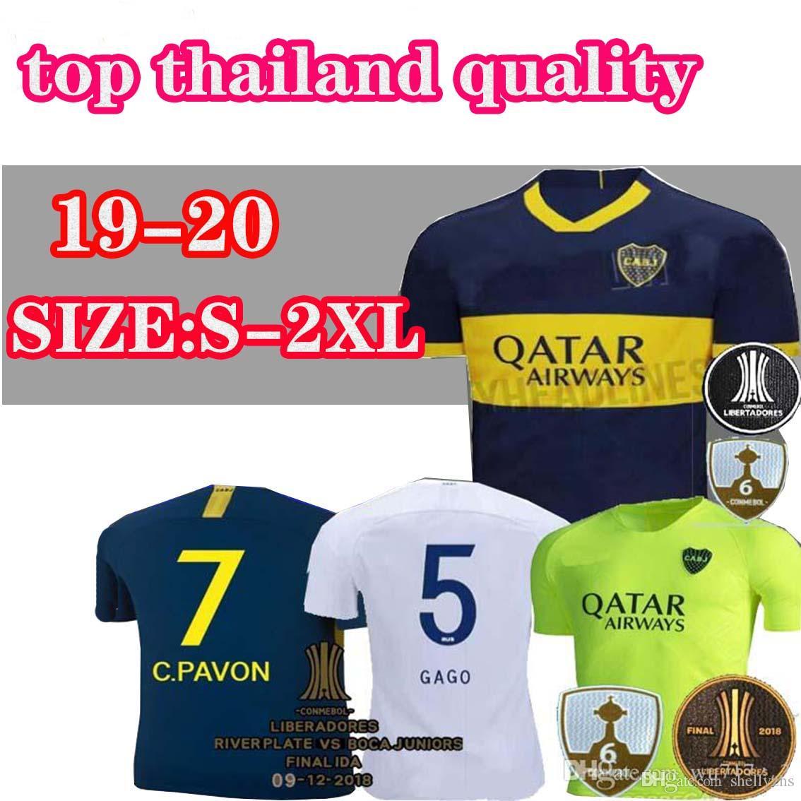 1c651ef943457 2019 New 2019/2020 Thailand Boca Juniors Home Third Green 2018 Argentine  Super League Soccer Jerseys 19/20 GAGO #5 CARDONA TEVEZ Football Shirts  From ...