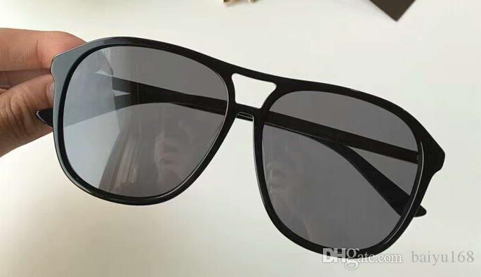 0016 Black Plastic Square Sunglasses Grey Lens Sun Glasses Mens Brand Designer sunglasses Shades Top Quality New With Box