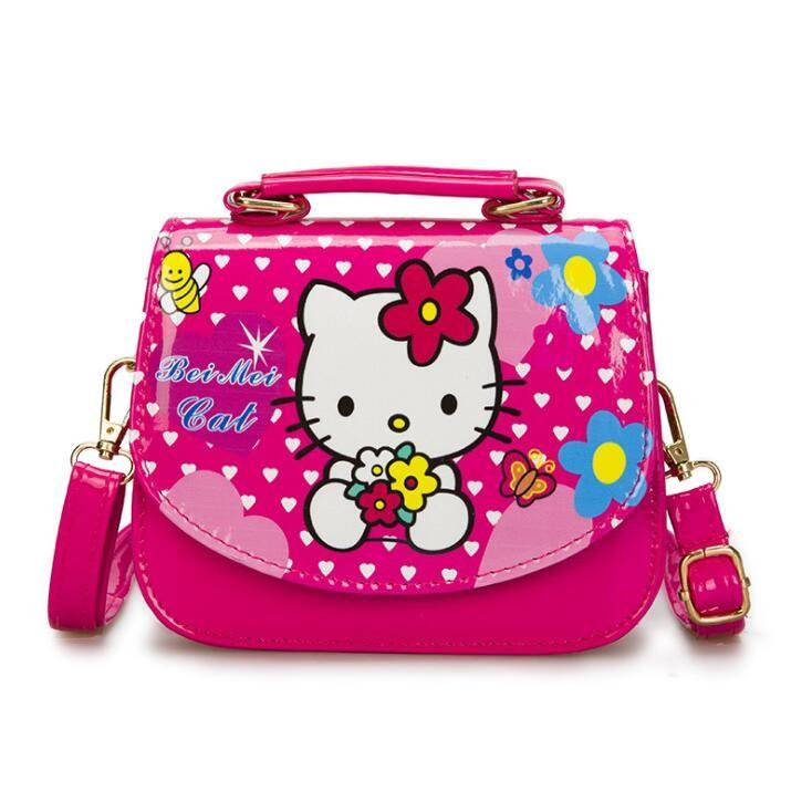 New Cute Mini Bag Children Hello Kitty Handbag Cartoon PU Should Bag Kids  Girls Fashion Messenger Bags Many Designs Branded Handbags Womens Handbags  From ... 15c690179dac6